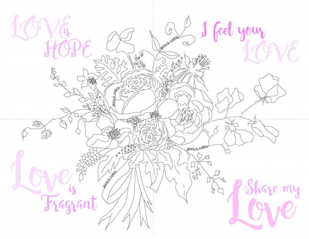 Color and share Valentines Day Postcards