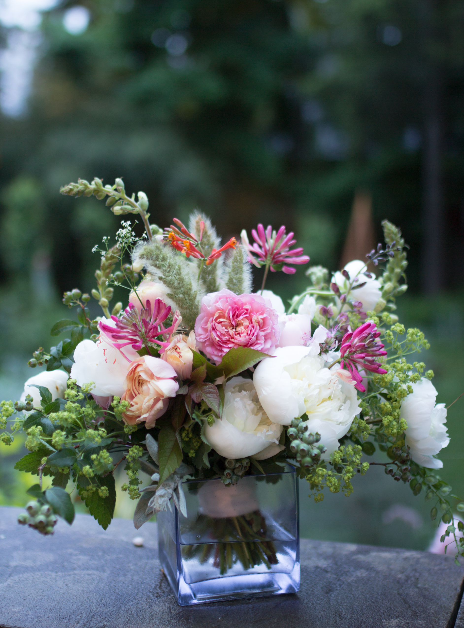 photo of spring bridal bouquet by Hudson Valley floral designer Gloria B. Collins