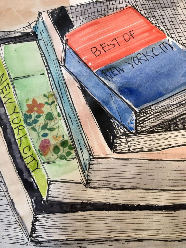 """When Reading is a Struggle: Overcoming Illiteracy Through Visual Inspiration"" post and original illustration by Gloria B. Collins"