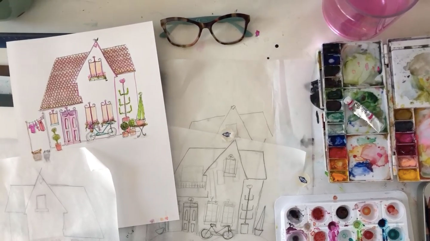 Sketching 101: 7 tips to sketch a whimsical house | Gloria B. Collins